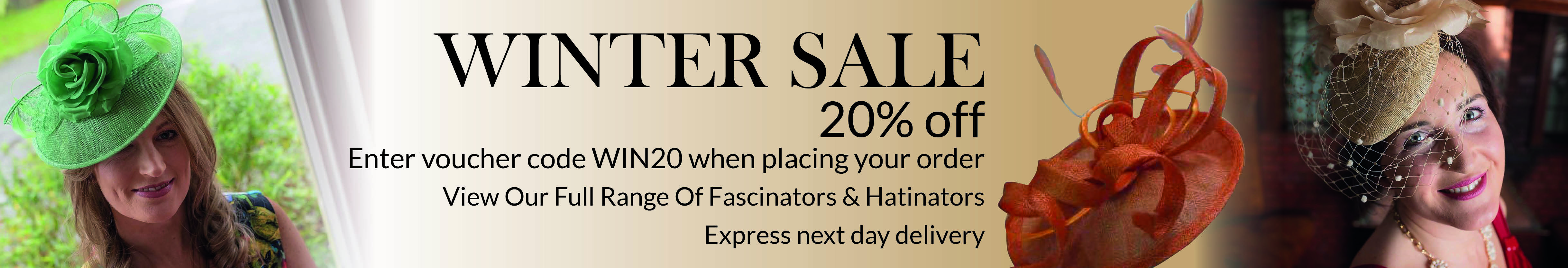 Winter Sale 20% off all Fascinators