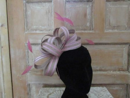 Sinamay bow fascinator in 2 tone colours