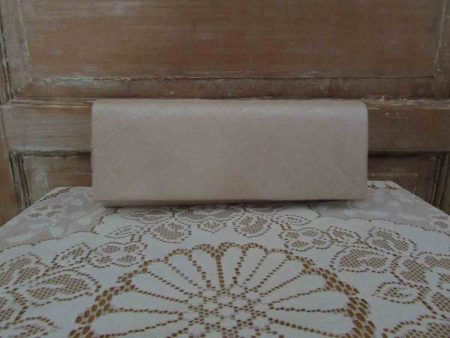 Sinamay clutch bag in champagne