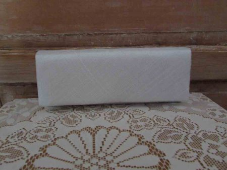 Sinamay clutch bag in ivory