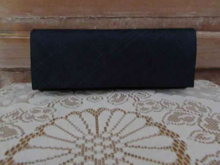 Sinamay clutch bag in navy