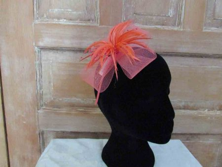 Looped net fascinator coral