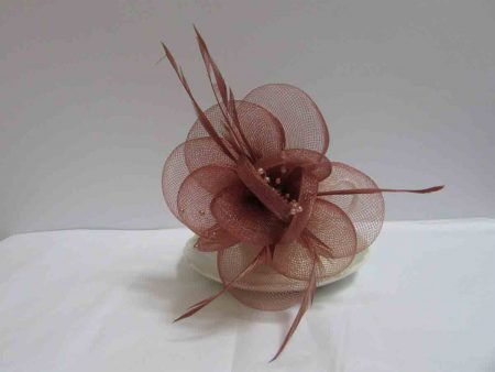 Netted flower brown