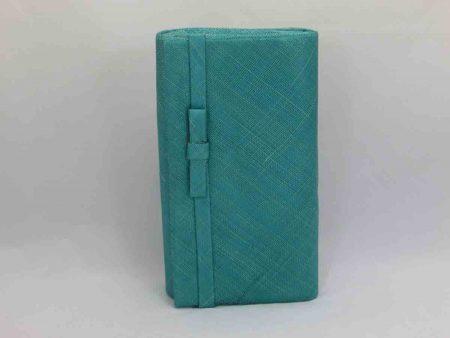 Sinamay bag in jade
