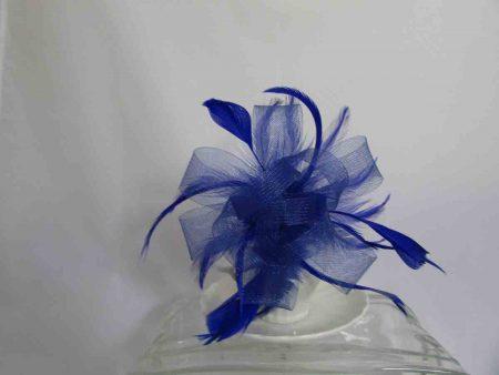 Royal blue looped fascinator