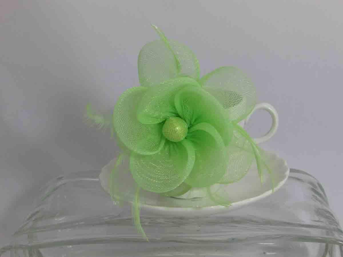 057a68b17c47b Product Description. Sinamay fascinator in mint ...