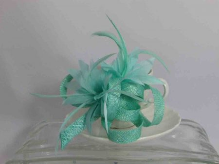 Sinamay fascinator in mint