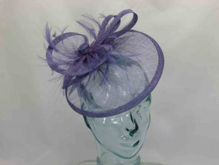 Triple circular fascinator in wisteria