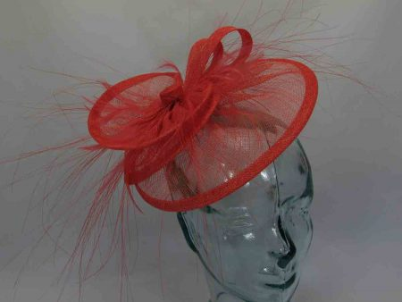 Triple circular fascinator in Orange