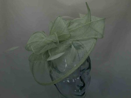 Mint aloe sinamay fascinator