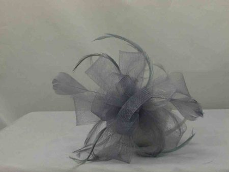 Silver looped fascinator
