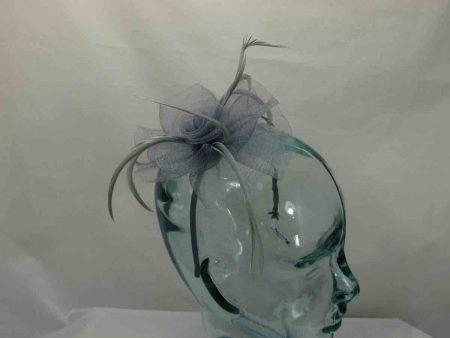 Looped net flower silver