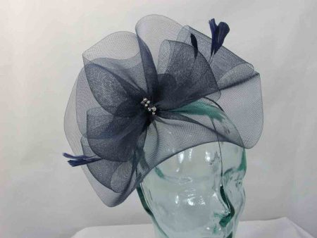 Crin fascinator in navy