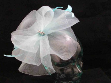 Crin fascinator in turquoise
