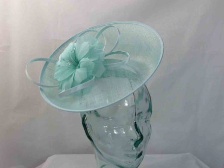 Sinamay hatinator with upturned brim in mint