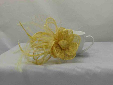 flower fascinator yellow