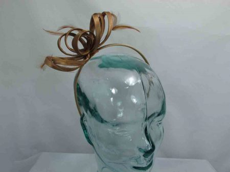 Satin fascinator in coffee