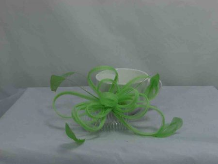 Crin fascinator in neon green