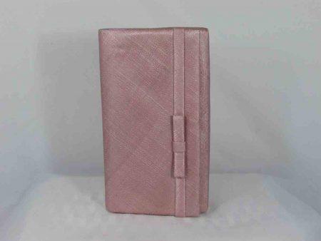 Sinamay bag in blush pink