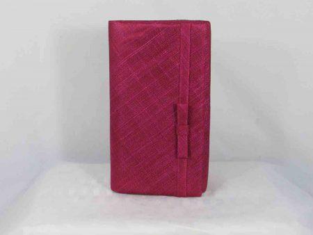 Sinamay bag in raspberry pink