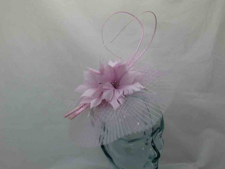 Pleated crin fascinator in orchid