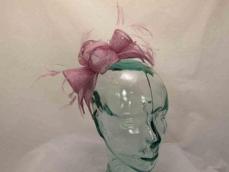 Double flower fascinator in dusk lilac