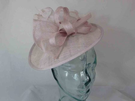 Medium sinamay fascinator in orchid