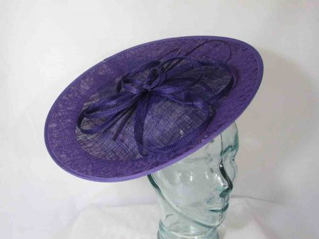 Hatinator with lace detail in imperial purple