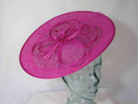 Hatinator with lace detail in magenta