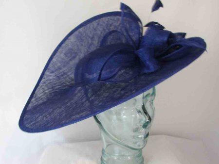 Three quarter brim hatinator  in cobalt blue