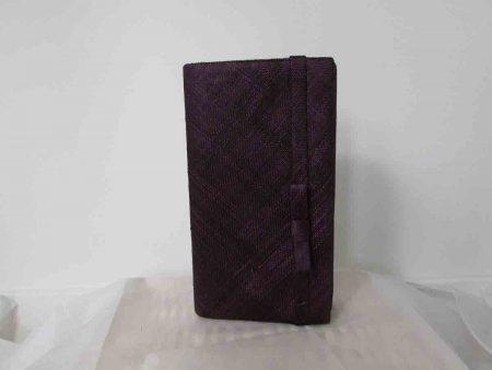 Sinamay bag in blackcurrant