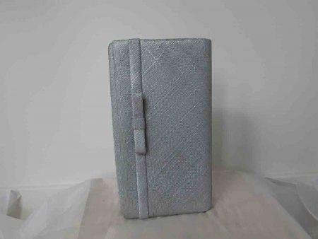Sinamay bag in silver