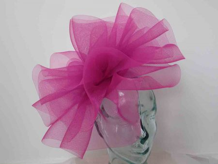 389e967d80c37 Pillbox fascinator with crin in raspberry pink