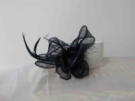 flower fascinator navy