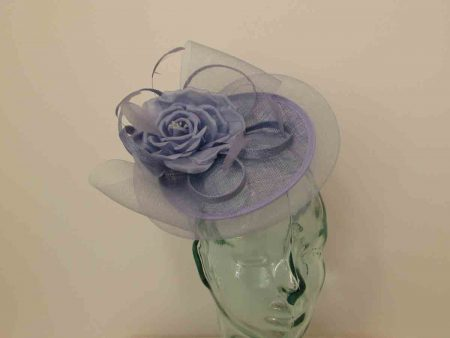 Mini hatinator with flower in sky blue