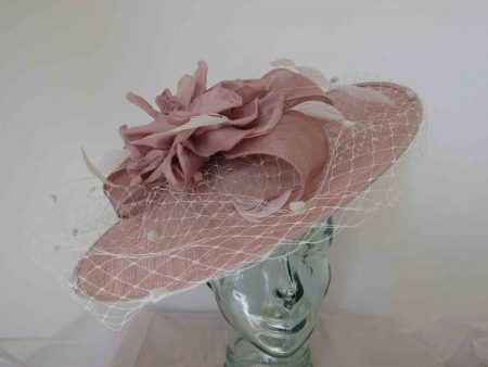 Blush pink hatinator with blush flower and trim
