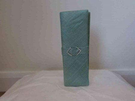 Sinamay clutch bag in apple green
