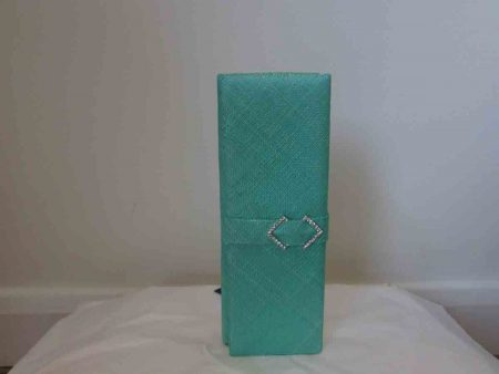 Sinamay clutch bag in miami green