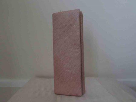 Sinamay clutch bag in rose pink