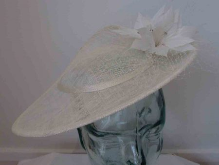 Three quarter brim hatinator in ivory