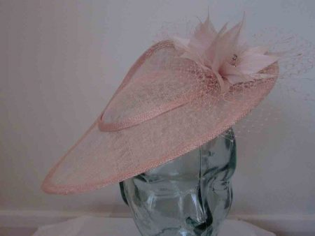 Three quarter brim hatinator in oyster pink