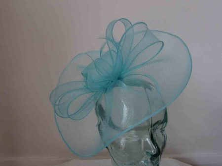 Crin fascinator in baby blue