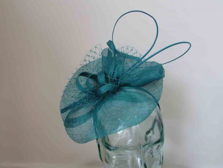 Simanay fascinator with double quill in mallard