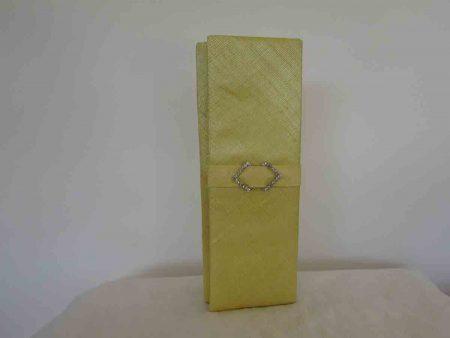 Sinamay clutch bag in daffodil