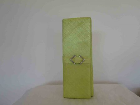 Sinamay clutch bag in lime