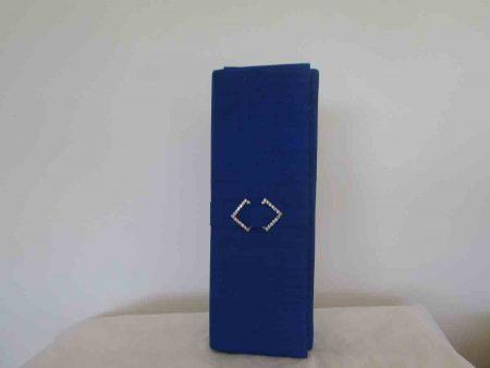 Silk clutch bag in cobalt blue