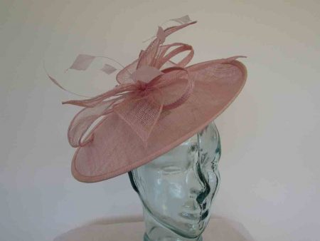 parfait pink hatinator with sinamay flower