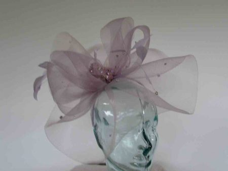 Crin fascinator with diamante in ice lilac