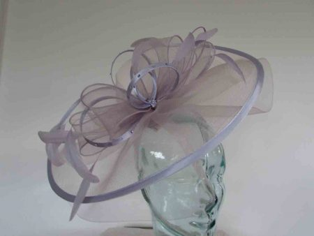 Crin fascinator with diamante in wisteria