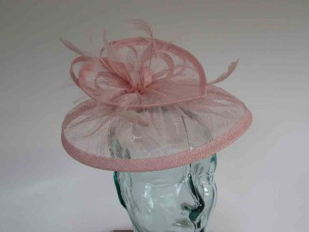 Double circular fascinator in candy pink
